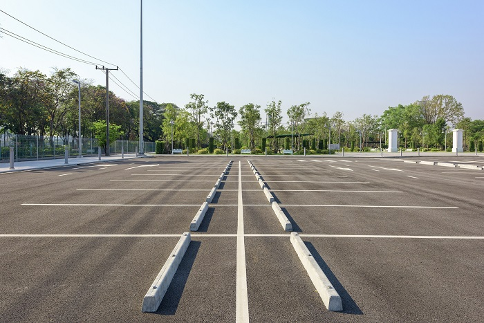 Empty Business Parking Lot